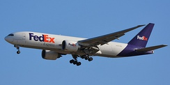 A 777F of FedEx Express, the largest operator.