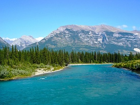 The Bow River near Canmore