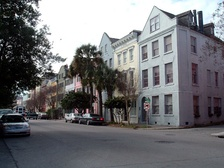 Rainbow Row's 13 houses along East Bay Street formed the commercial center of the town from the colonial period through the early 20th century.