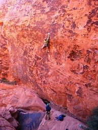 Climbers at the second pullout of the scenic loop