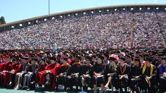 Cornell's 2008 commencement ceremony at Schoellkopf Field