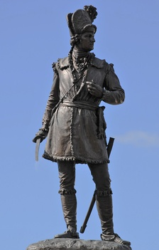 Statue of General Morgan erected in 1881 in Spartanburg, South Carolina