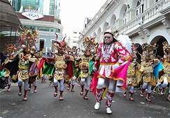 "The Diablada, dance primeval, typical and main of Carnival of Oruro a Masterpiece of the Oral and Intangible Heritage of Humanity since 2001 in Bolivia (File: Fraternidad Artística y Cultural ""La Diablada"")"