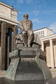 Statue of Dostoevsky in front of the library