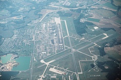 Aerial view of Dover Air Force Base in 1995