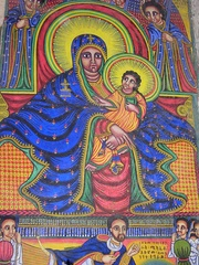 Black Madonna and Child, Church of Our Lady Mary of Zion, Axum, Ethiopia