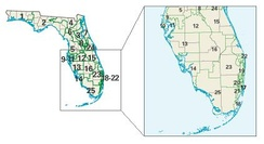 Florida districts in these elections