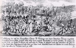 The Saint-Domingue slave revolt in 1791