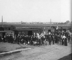 Refugee transport from Serbia in Leibnitz, Styria, 1914