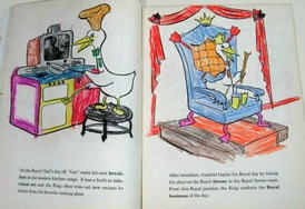 Filled-in child's coloring book, Garfield Goose (1953)