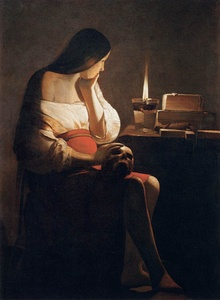 Magdalene with the Smoking Flame (c. 1640) by Georges de La Tour