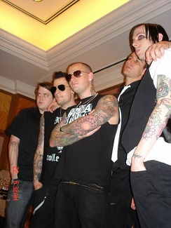 From left to right: Paul Thomas, Joel Madden, Benji Madden, Dean Butterworth, and Billy Martin.