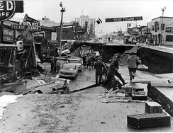 Fourth Avenue after the Good Friday or Great Alaskan earthquake on March 27, 1964.