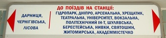 Modern signs in the Kiev Metro are in Ukrainian. The evolution in their language followed the changes in the language policies in post-war Ukraine. Originally, all signs and voice announcements in the metro were in Ukrainian, but their language was changed to Russian in the early 1980s, at the height of Shcherbytsky's gradual Russification. In the perestroika liberalization of the late 1980s, the signs were changed to bilingual. This was accompanied by bilingual voice announcements in the trains. In the early 1990s, both signs and voice announcements were changed again from bilingual to Ukrainian-only during the de-russification campaign that followed Ukraine's independence. Since 2012 the signs have been in both Ukrainian and English.