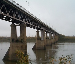 Kolyma River Bridge, at Debin