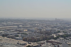 View of smog south from Los Angeles City Hall, September 2011