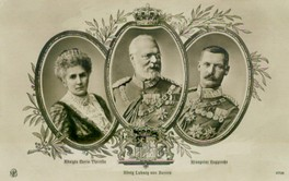 Queen Maria Theresa, King Ludwig III and their son crown prince Rupprecht.