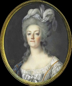 Miniature of Marie Antoinette (by Louis Marie Sicard, 1787)