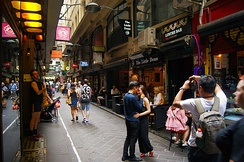 The inner city is home to an extensive network of lively laneways and arcades.