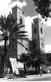 The Mogadishu Cathedral, the former seat of the Roman Catholic Diocese of Mogadiscio.