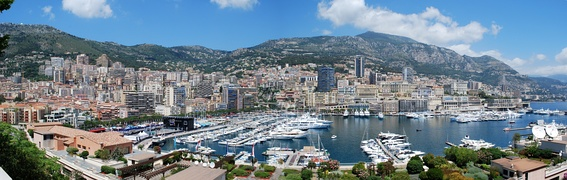 Panoramic view of La Condamine, Monaco