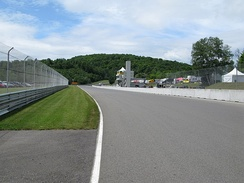 The Control Tower and start-finish straight, looking west against the flow of the circuit, towards the Namerow corner.