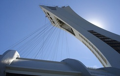 Tower and cables for retractable roof at the Montreal Olympic Stadium