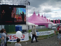 The National Eisteddfod, an annual celebration of Welsh culture, conducted in Welsh