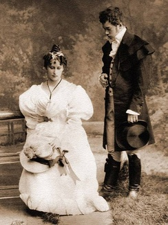 Nicholas of Russia and Elisabeth of Hesse as Eugene and Tatiana