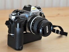 Nikon FE with motor drive MD-12 and Nikkor AI 24 mm/f2