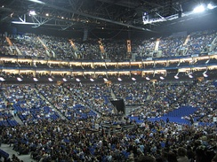Inside the O2 Arena