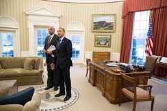 Barkley with President Barack Obama at the White House