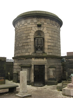 David Hume's mausoleum by Robert Adam in the Old Calton Burial Ground, Edinburgh.