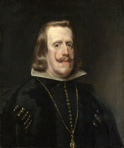 An older Philip IV, painted in 1656 by Diego Velázquez
