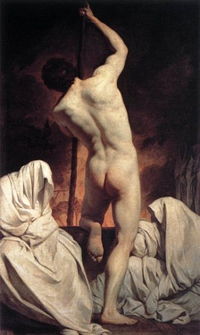 Charon Ferrying the Shades (c. 1735) de Pierre Subleyras.