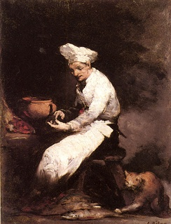 French chef painted by Théodule Ribot (1823–1891)