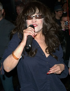 "Ronnie Spector in 2010 singing ""Be My Baby"" to Michael Musto"