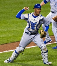 Salvador Pérez was named the Most Valuable Player of the series.
