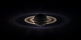 Saturn occults the Sun as seen from the Cassini–Huygens space probe