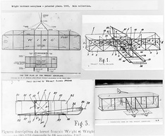 The Wright brothers' patent drawings for their aeroplane (1908)