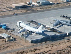 YAL-1 undergoing modification in November 2004, at Edwards AFB