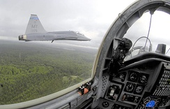 Picture of the formation leader, taken from the backseat of a T38C, of the 479th Fighter Training Group, Moody AFB, Georgia, 2006