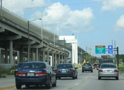 The Lee Roy Selmon Crosstown Expressway features an elevated double-decker freeway.