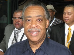 Sharpton attending the 2008 Democratic National Convention