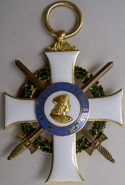 Badge of the order with swords