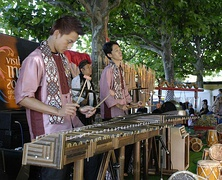 Angklung Calung performance in  Frankfurt, Germany.