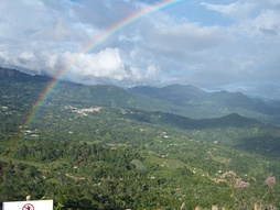 Tocarema, present-day Cachipay, here guarded by rainbow god Cuchavira, was the site of the Battle of Tocarema on August 20, 1538 between an alliance of the Spanish with the last Muisca zipa Sagipa and the Panche people