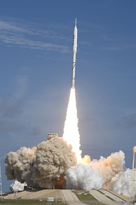 The launch of Ares I prototype, Ares I-X on 28 October 2009