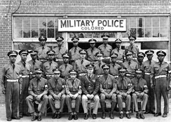 "Army Air Force Military Police ""colored"" unit at Columbus, GA, in April 1942."