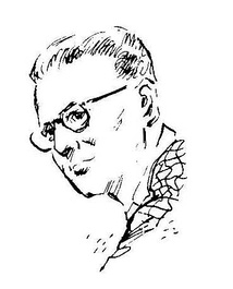 Clarke as depicted in Amazing Stories in 1953
